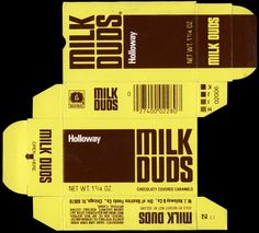 Holloway - Milk Duds - candy box - mid-1970's
