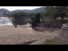 瀬田川沿いに移動して、宇治発電所石山制水門付近:(滋賀県大津市)