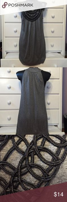 "Forever 21 Grey and Black Top Worn a few times. In great condition. Can be a top, tunic, or dress. About 29"" in length. Forever 21 Tops"