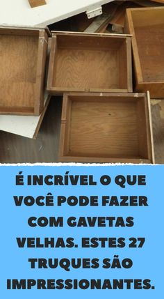 Clique na foto e leia o site Storage Bed Queen, Diy Storage Bed, Painted Furniture, Diy Furniture, Diy Bedroom Decor, Diy Home Decor, Art Decor, Decoration, Old Drawers