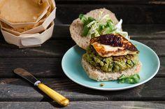 Quinoa, Fava Bean, and Chard Veggie Burgers, a recipe on Food52