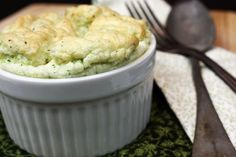 Dairy-Free Broccoli Cheese Souffle Recipe - perfect way to enjoy veggies in the summer on those colder, rainy days