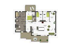 Saarni 168 | Sievitalo //saunaosasto+khh Floor Plans, Flooring, How To Plan, Decoration, House, Home Decor, Decor, Decoration Home, Home