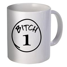 Best funny gift - 11OZ Coffee Mug - The official bitch number one - Perfect for birthday, women, present for her, daughter, sister, wife, boyfriend, girlfriend or friend. -- Click on the image for additional details.