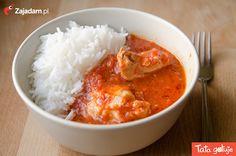 karmienie piersią kurczak w pomidorach z ryżem basmanti