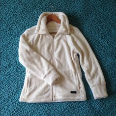 SUPER SOFT Calvin Klein Zip up Incredibly soft. Perfect condition. Never worn. Ivory color. Calvin Klein Jackets & Coats