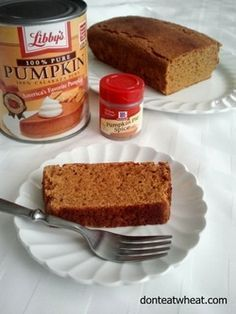 Pumpkin Pie Paleo Pound Cake Bread. It's like eating pumpkin pie as a bread! (Dairy Free, Gluten Free, Grain Free, Paleo)