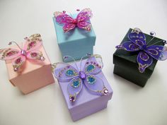 Custom Butterfly Favor Boxes - Butterfly Wedding Theme $2.33