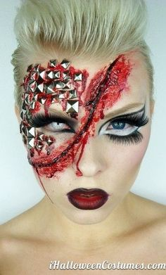 50 of the best Halloween Makeup Ideas. this one in particular is so creepy, weird, and awesome!