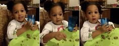 """Dad's Adorable Lesson for 2-Year-Old Princess It's never too early to teach our children that they deserve to be treated with love and respect, and that's just the message one father is imparting to his 2-year-old daughter in thisadorable video . California dad Demetrius Brown catches Nola mid-meal and gives her a quick but memorable lesson: a man should always keep your honor intact, he should only lay a hand on you if he is """"giving you love,"""" and daddy will always be there to make sure…"""