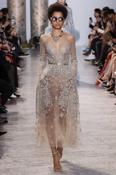 #PFW: Elie Saab's Spring17 Couture collection | The Luxe Lookbook   #gowns #vintage #sheer #parisfashionweek #fashionweek #dress #bridal #wedding