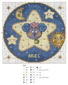 Lo scrigno delle novità: schemi punto croce:segni zodiacali 1 parte cancro,...