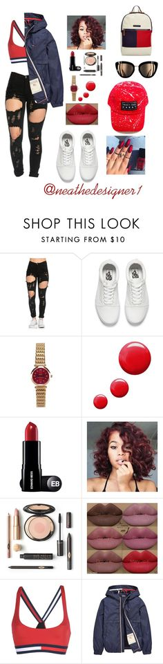 """Tommyyy"" by neathedesigner1 on Polyvore featuring Vans, Topshop, Kylie Cosmetics and Tommy Hilfiger"