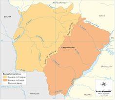 Mato Grosso do Sul - Conheça seu Estado (História e Geografia): 34 - Bacias hidrográficas do Mato Grosso do Sul