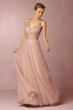 Dusty rose  BHLDN Zaria Dress in  Bridesmaids Bridesmaid Dresses Long at BHLDN
