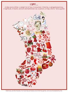50 Super Ideas Printable Christmas Games I Spy Funny Christmas Games, Easter Party Games, Christmas Games For Adults, Printable Christmas Games, Toddler Party Games, Kids Christmas, Simple Christmas, Christmas Recipes, Harry Potter Party Games