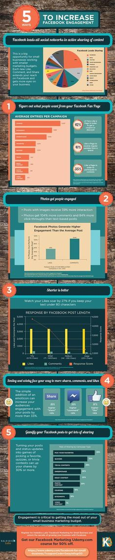 5 Ways to Increase #Facebook Engagement | #socialmedia #infographic via http://daily-infographic.tumblr.com