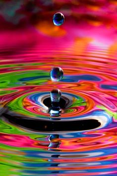 Behind every drop, a rainbow of ripples.