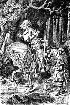Tenniel illustration of the White Knight. 1871