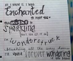 Enchanted by Taylor Swift <3
