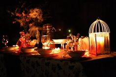 Romantic Idea: Dessert by Candlelight (with gourmet cafe).