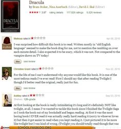 Wow! Like really? Twilight over Dracula?!!!!! Oh Cmon! Read more people.