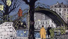 Jacques Tardi, b. 1946 - New Site Canal Saint Martin, Ligne Claire, Image Originale, Georges Braque, Famous French, Jaco, Graphic Design Posters, Graphic Novels, Comic Artist