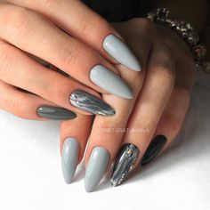 21 Amazing nail art design ideas - Pretty mismatched nail arts #nails #nailart #nail #manicure