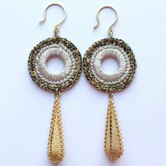Fashion Womens Jewelry Handmade Earrings Metallic Yarn