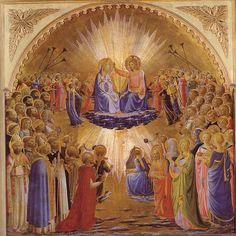 Beato Angelico - Coronation of the Virgin at Uffizi Gallery Florence   #TuscanyAgriturismoGiratola