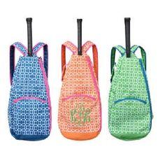 Preppy Monogrammed Tennis Racket Bag by DesignsbyApril1234 on Etsy, $39.95