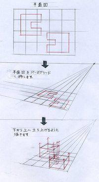窓の描き方(手描きパースの描き方) l 手描きパースの描き方ブログ、パース講座(手書きパース)