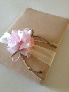 Rustic Wedding Guest Book - Pink Hydrangeas