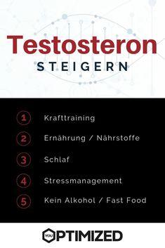 Die wichtigsten Tipps um den Testosteronspiegel zu erhöhen bzw. das Testosteron zu steigern. #testosteron #testosteronspiegel #erhöhen #steigern Cortisol, Stress Management, Fitness Workouts, Drink, Food, Raise Testosterone, Gain Muscle, Strength Workout, Muscle Up