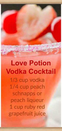 Love Potion Vodka Cocktail ~ vodka, peach schnapps and cherry/raspberry juice Liebestrank-Wodka-Cocktail ~ Wodka, Pfirsichschnaps und Kirsch- / Himbeersaft Drinks Mixed Drinks Alcohol, Alcohol Drink Recipes, Easy Drink Recipes, Mixed Drink Recipes, Good Mixed Drinks, Alcoholic Drinks Recipes With Vodka, Fun Summer Drinks Alcohol, Raspberry Vodka Drinks, Summer Mixed Drinks