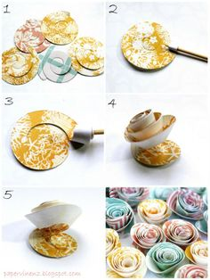 DIY: rolled paper flowers