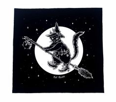 Cat Witch Back Patch