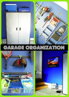 Garage Organization that is simple and attractive!   www.chaoticallycreative.com