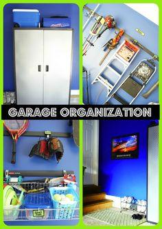 Get your garage organized in no time!   www.chaoticallycreative.com  #Garage #HomeOrganization