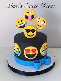 Resultado de imagen para pastel de fondant y emojis