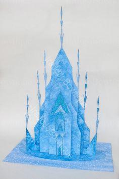 SALE!! 3D ICE CASTLE Frozen Party Centerpiece, Ice Castle & Marshmallow (snow Monster), Printable for Frozen Birthday.