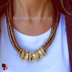 Náhrdelník Shimmer Gold  http://femmefashion.sk/nahrdelniky/2109-nahrdelnik-shimmer-gold.html