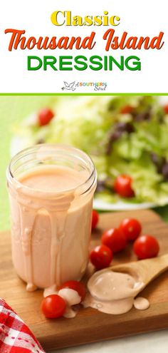 Homemade dressing is always the BEST way to show off fresh greens. This Classic 1000 Island Dressing made in less than ten minutes is creamy tangy with a hint of sweetness and is not only wonderful on salads but also on burgers sandwiches and as a dip! 1000 Island Dressing Recipe, Homemade Thousand Island Dressing, Homemade Dressing, Salad Dressing Recipes, Salad Recipes, Stuffed Baked Potatoes, Twice Baked Potatoes Casserole, Homemade Sandwich, Sandwich Recipes