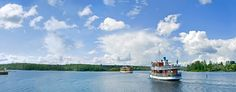 Cruise on Lake Saimaa by nostalgic steam ship. Savonlinna, Finland.