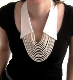 No shirt anymore, only the collar !  Carmen Hauser necklaces. Love this!