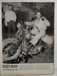 Hollister California Hells Angels Cycles Brigadoon 1947 July 21 Life Magazine