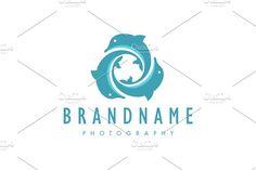 Vortex of Three Dolphins Logo by Zack Fair Designt