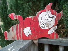 Vintage Little Red Devil Sign...Wooden by AlloftheAbove on Etsy