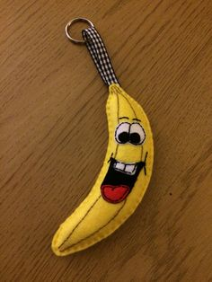 Felt banana keyring