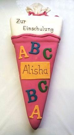 Eine schöne Torte zur Schuleinschreibung!